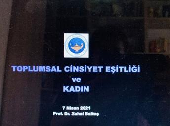 Toplumsal Cinsiyet Eşitliği ve Kadın-Pr. Dr. Zuhal Baltaş